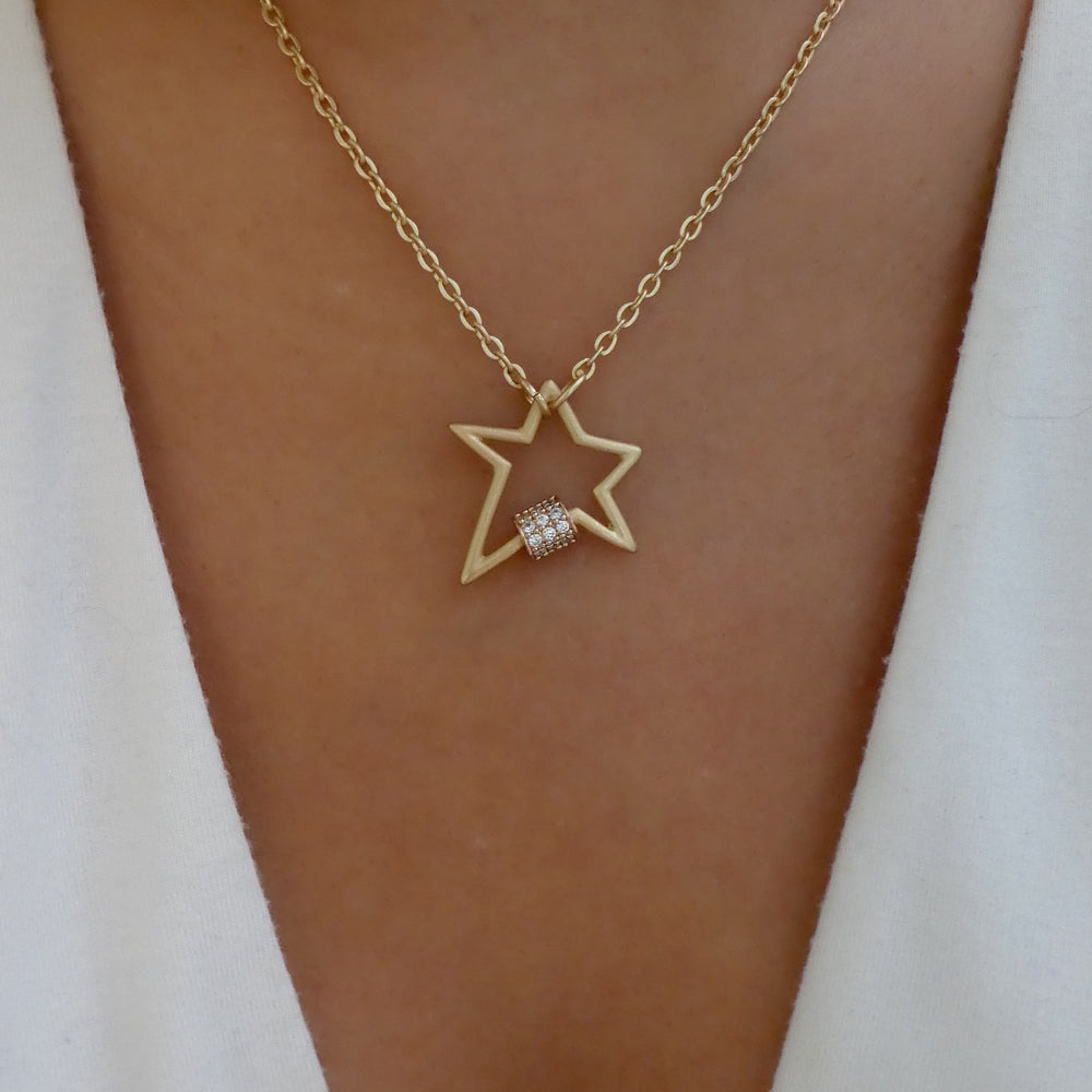 Matte Camille Star Necklace