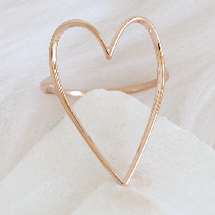 Simple Heart Ring (Rose Gold)
