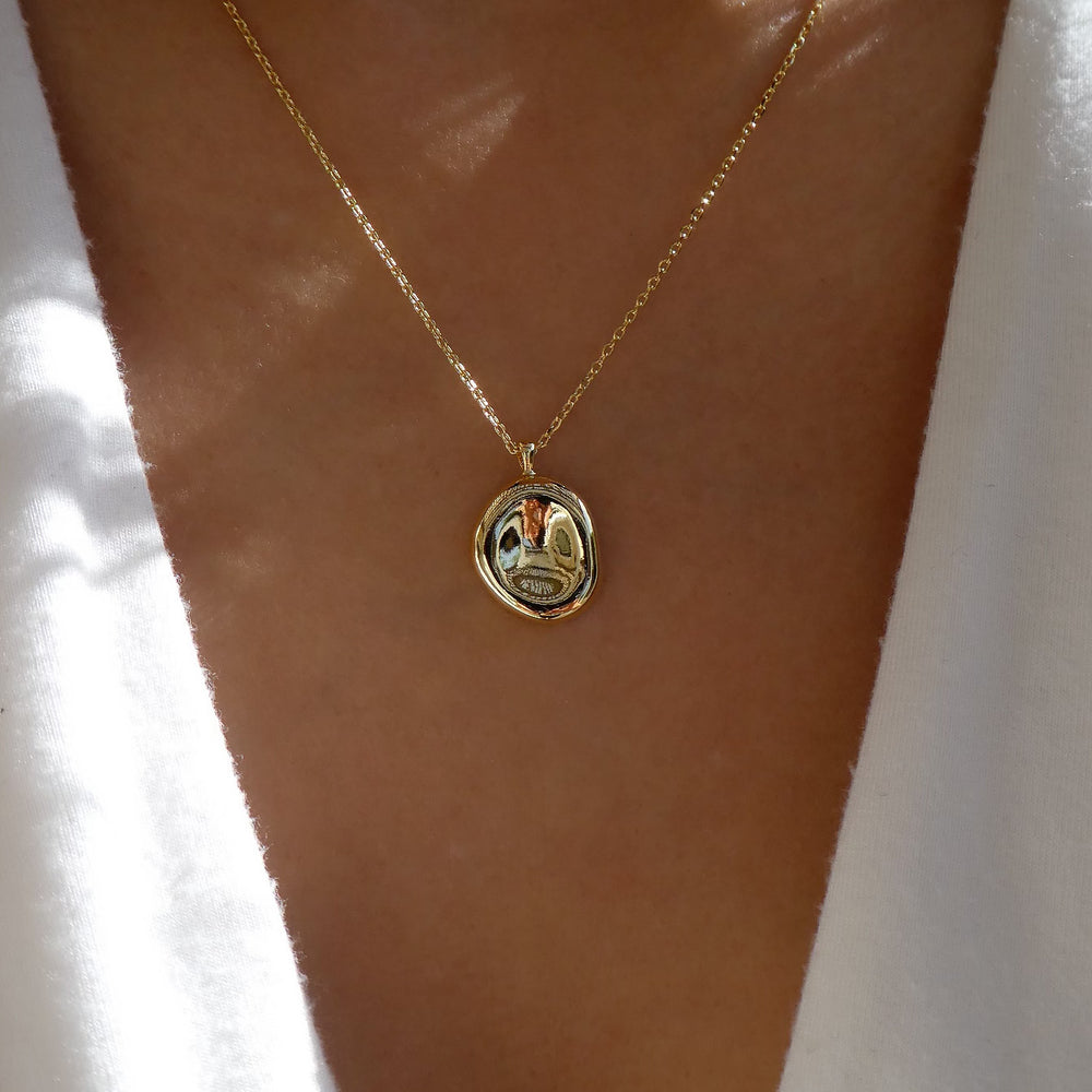 18K Hammered Coin Necklace