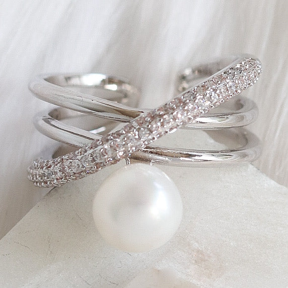 Single Pearl Ring (Silver)