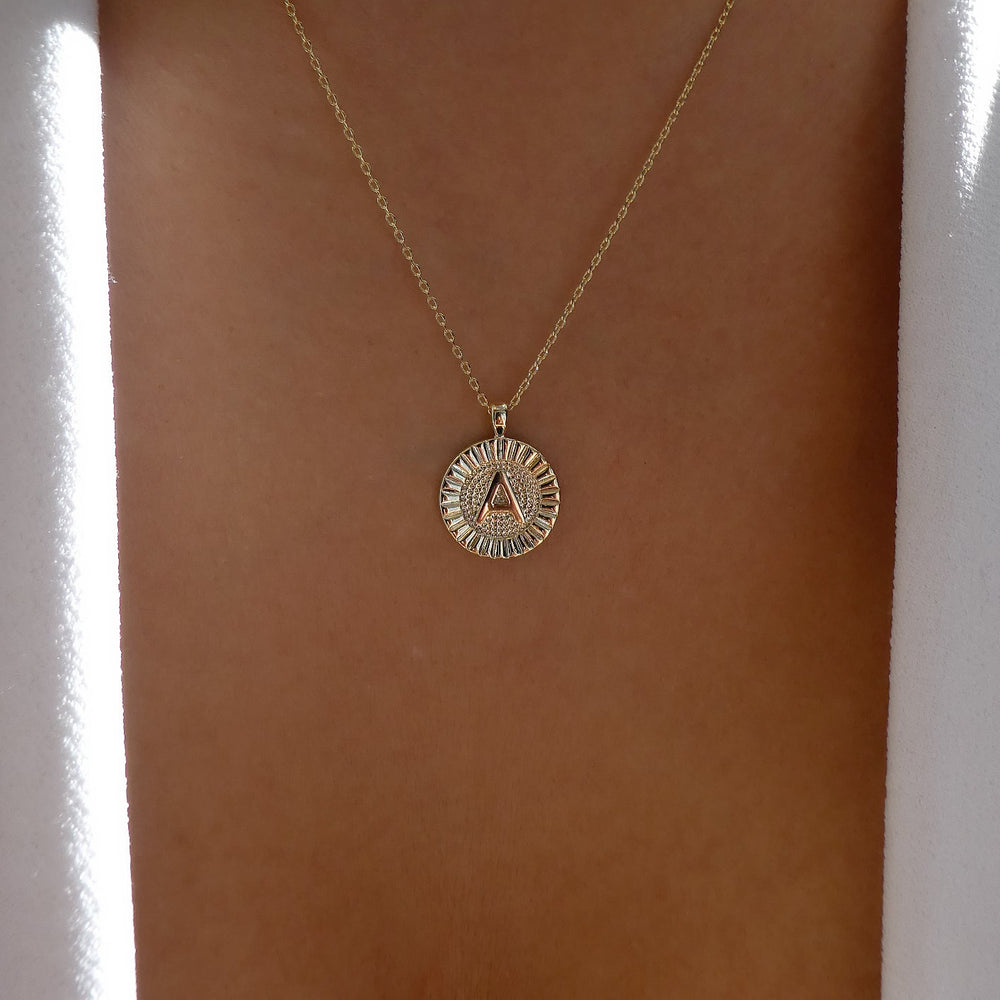 Letter Coin Necklace (A)