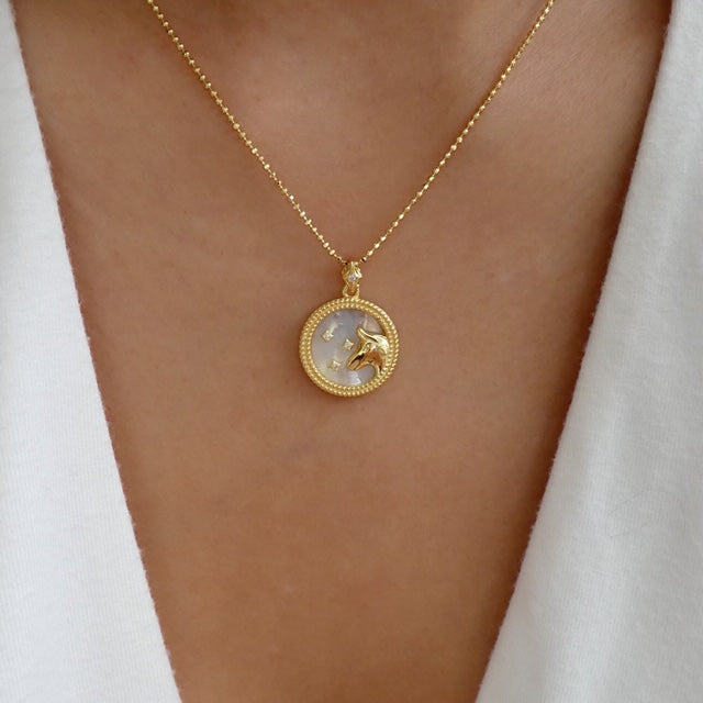 Katarina Zodiac Necklace (Taurus)