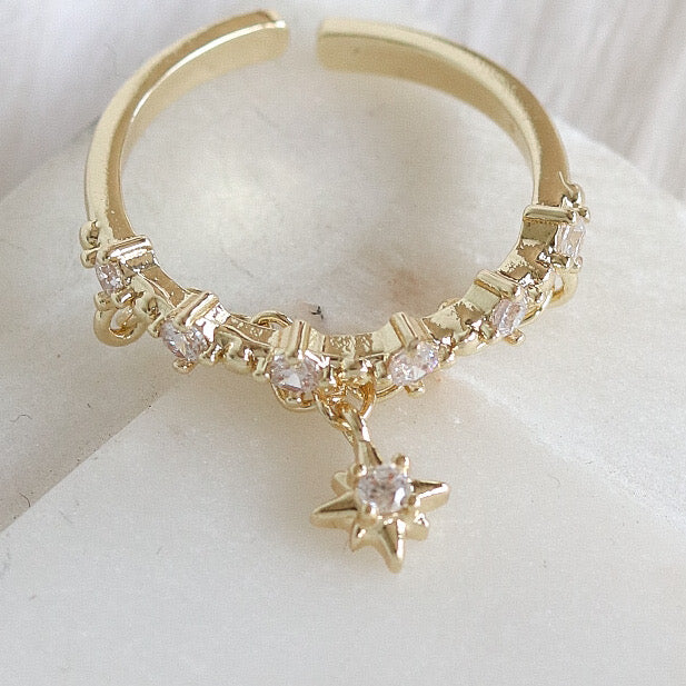 Star Drop Ring