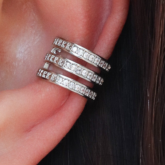 Brinkley Ear Cuff Set (Silver)