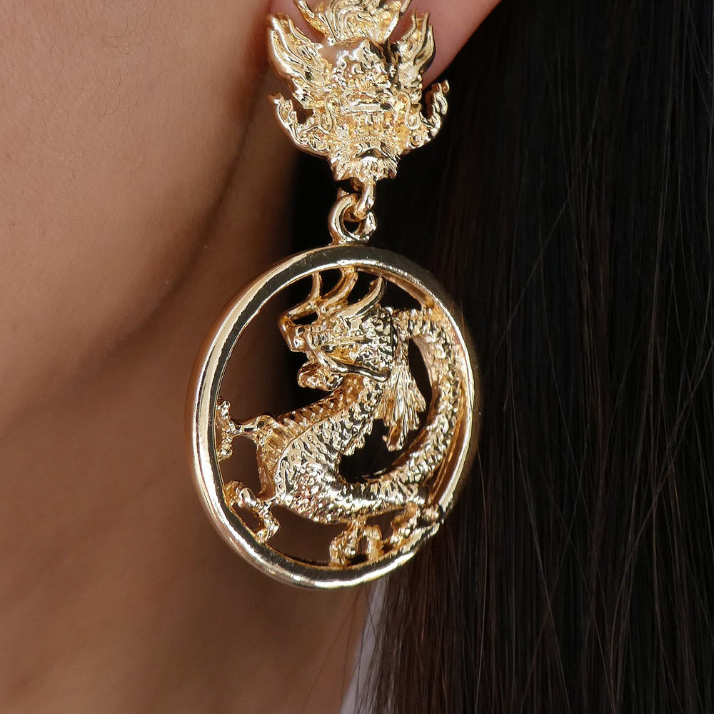 Ivanna Dragon Earrings
