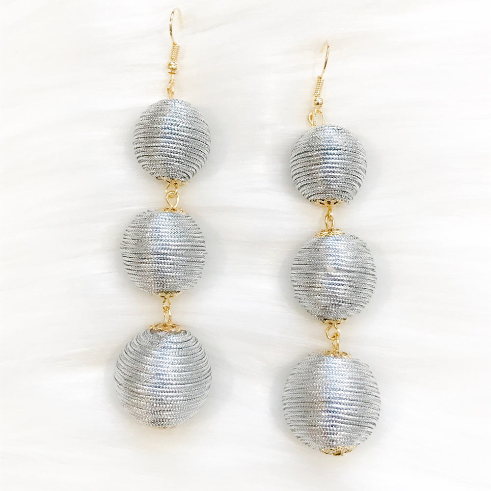Gray Swirl Earrings