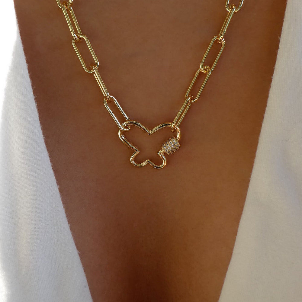 Butterfly Link & Chain Necklace