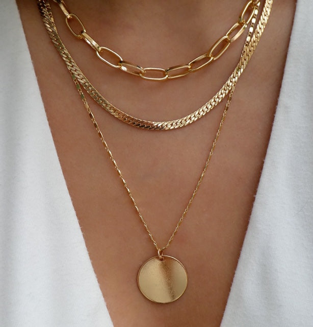 Leandra Chain Necklace Set