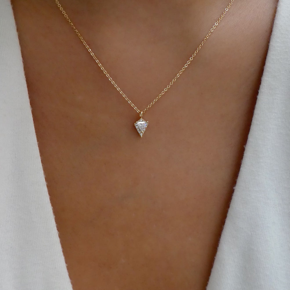Crystal Pivot Necklace