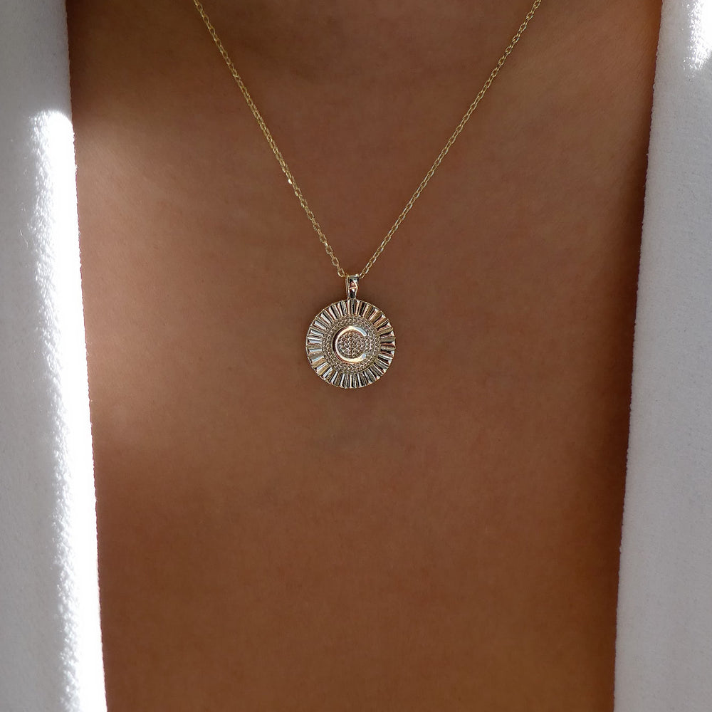 Letter Coin Necklace (C)