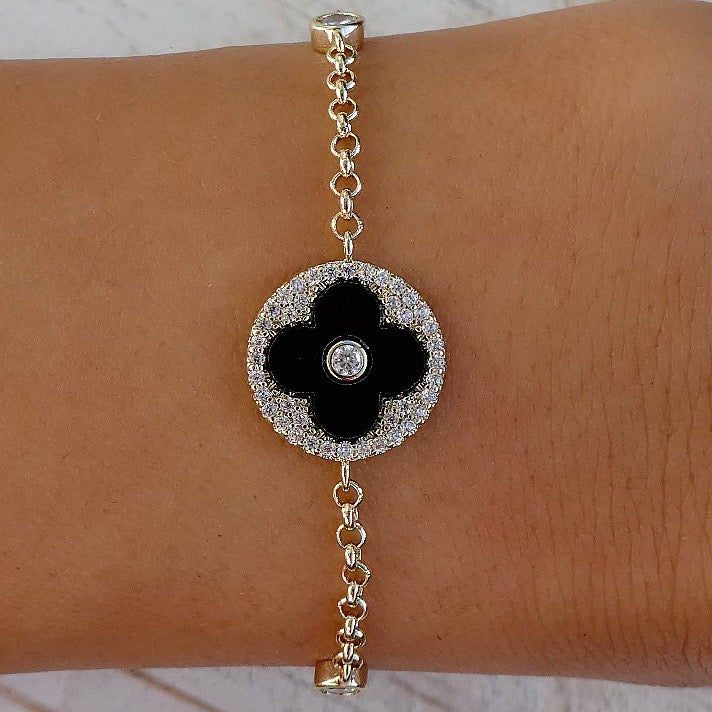 Black Steffy Coin Bracelet