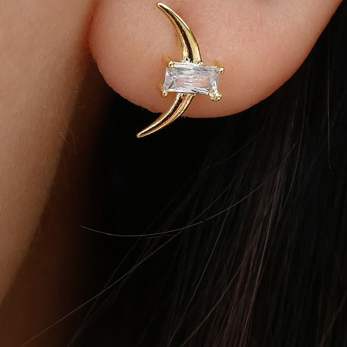 Crystal Eliza Moon Earrings