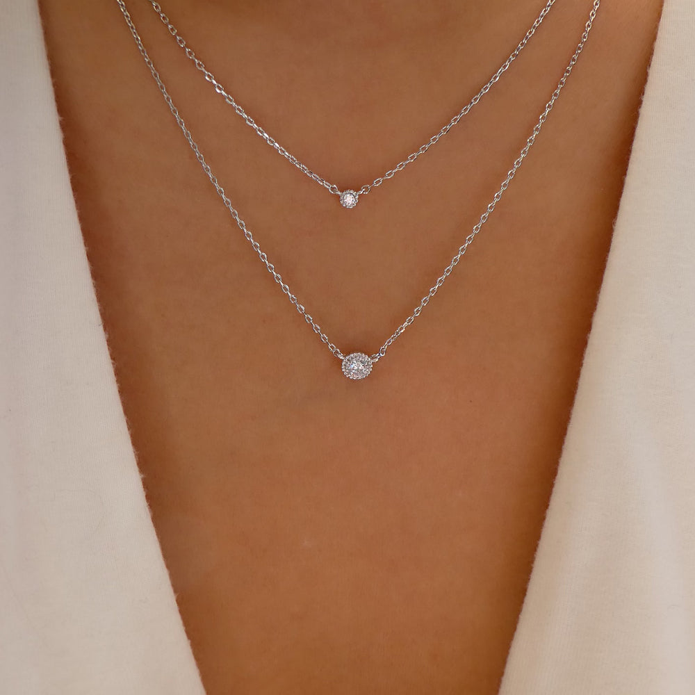 Crystal Leon Necklace (Silver)