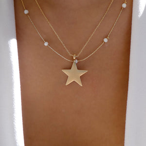 Kendall Star Necklace (White)