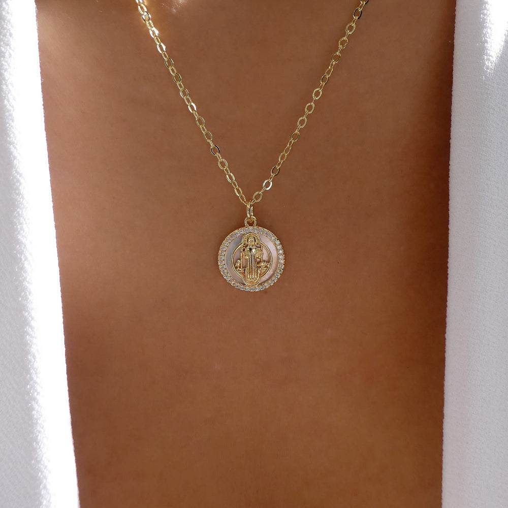 Mini Mary Coin Necklace