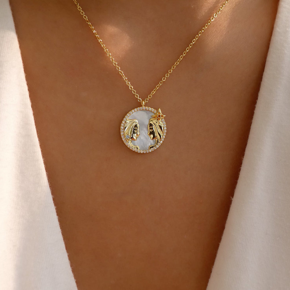 Ali Zodiac Necklace (Gemini)