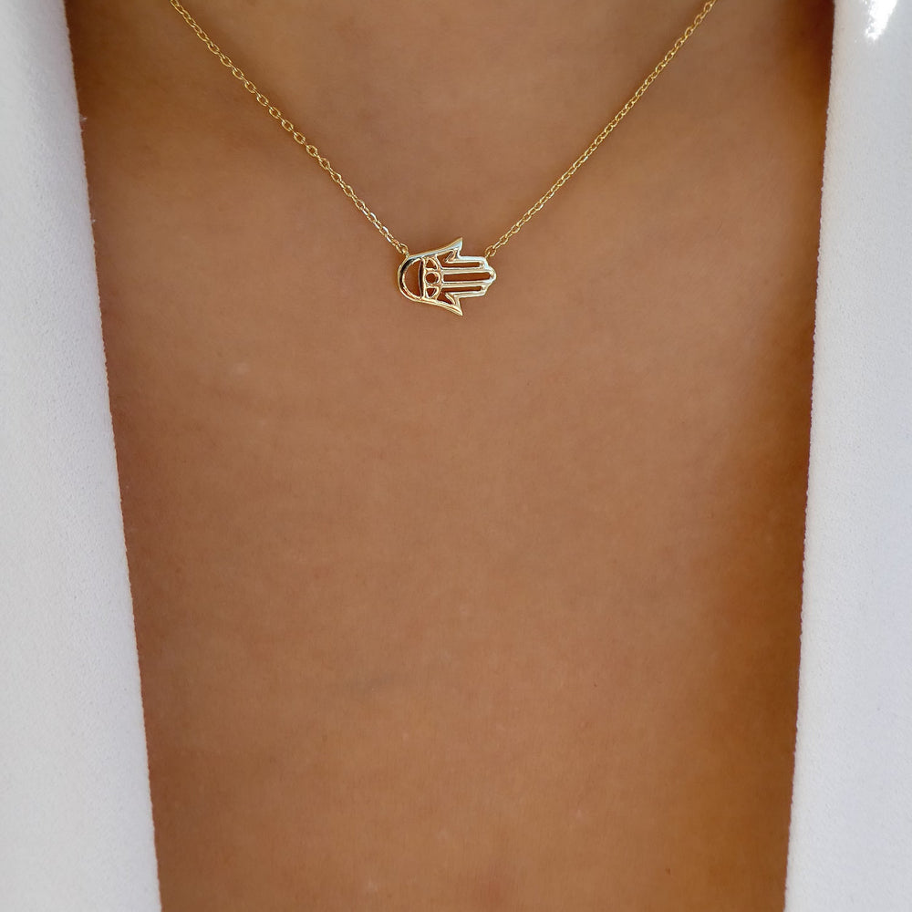 Simple Hamsa Necklace