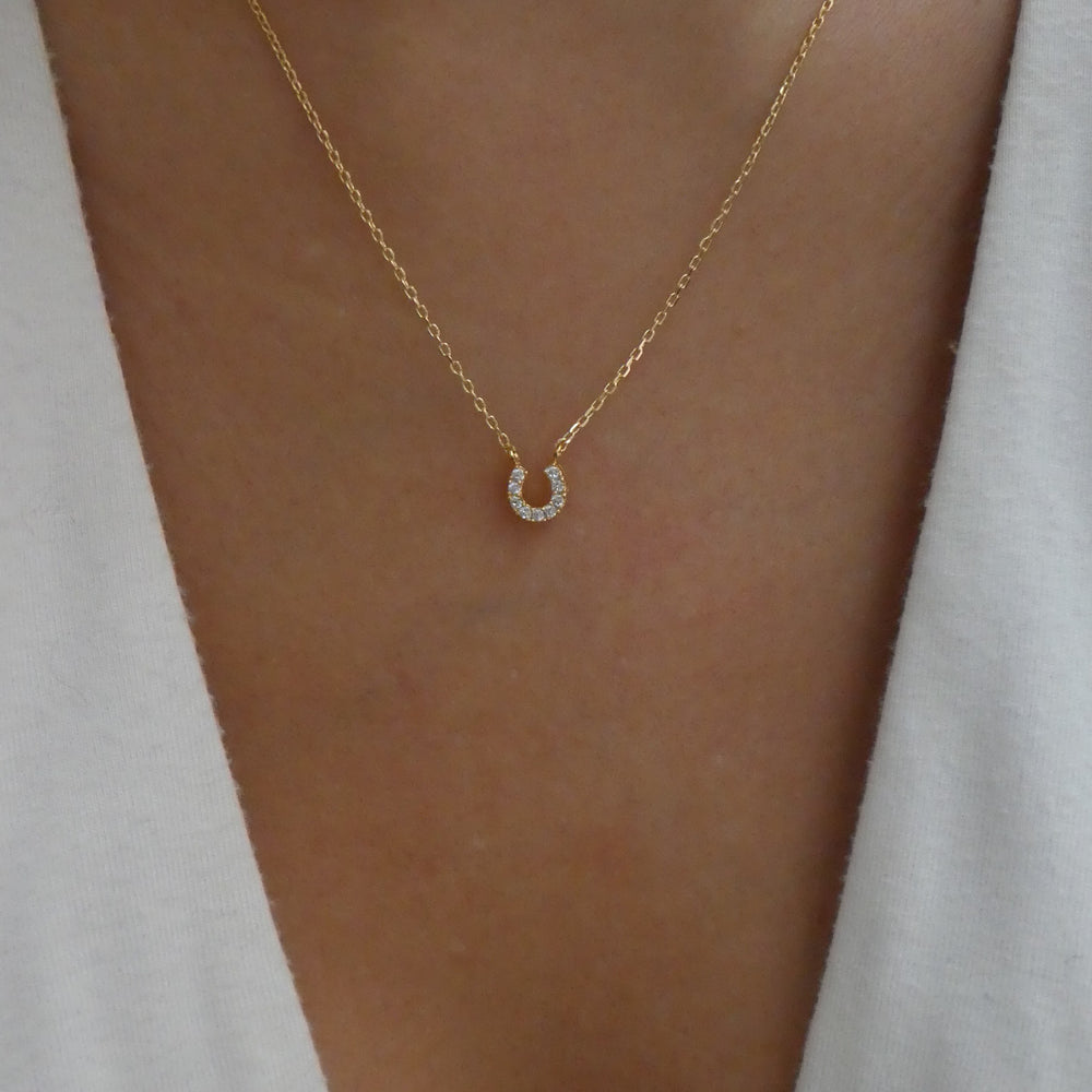 18K Horseshoe Necklace