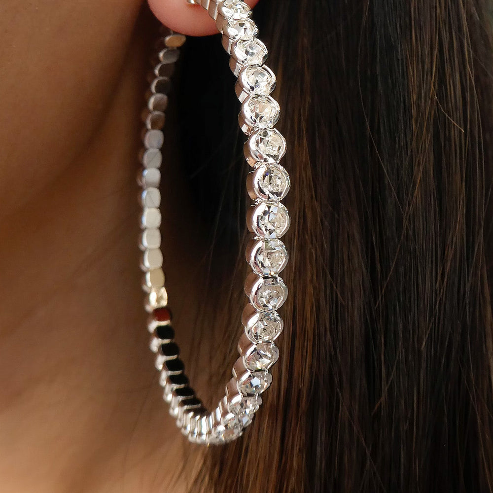 Silver Tinley Hoops