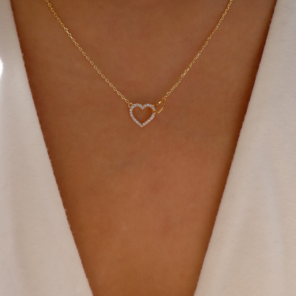 18K Double Heart Necklace