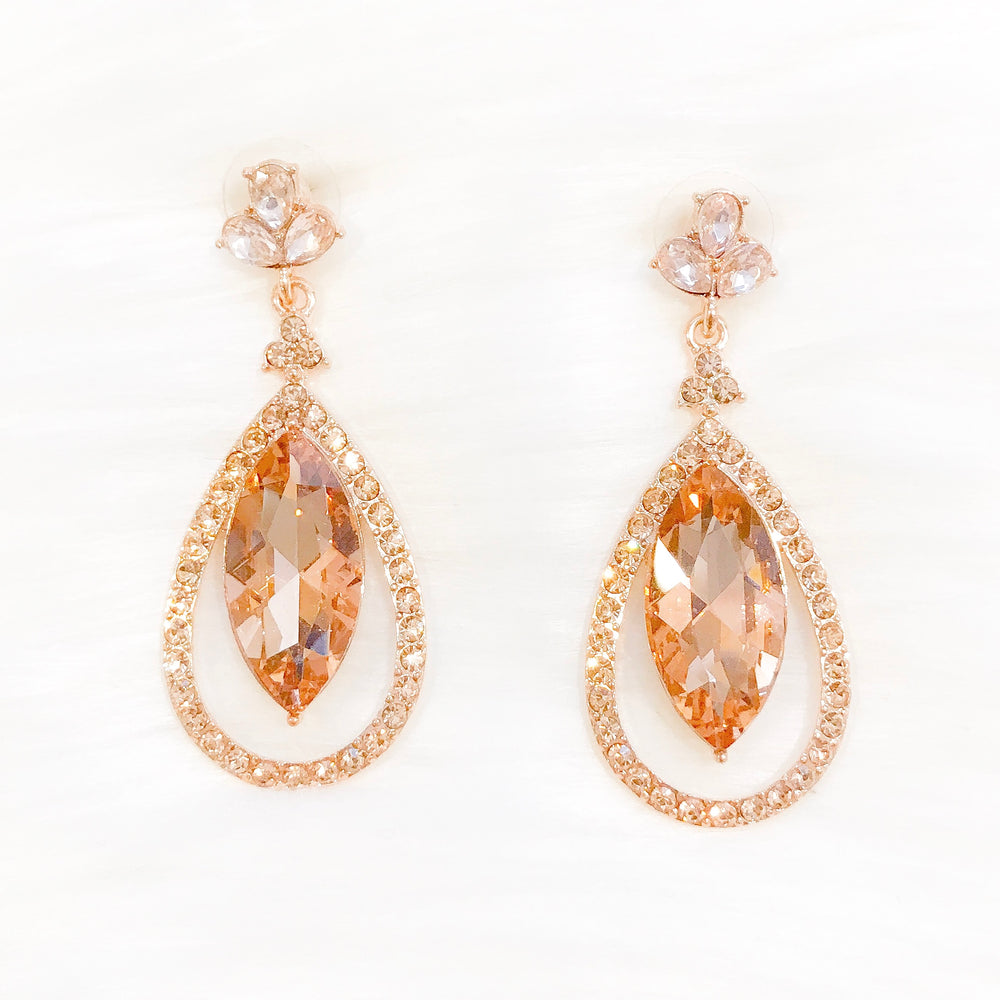 Rose Gold Luella Earrings