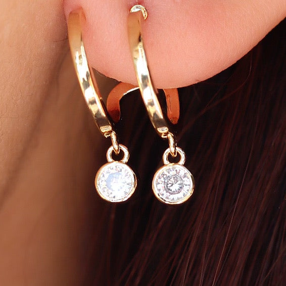 Crystal Armani Hoops