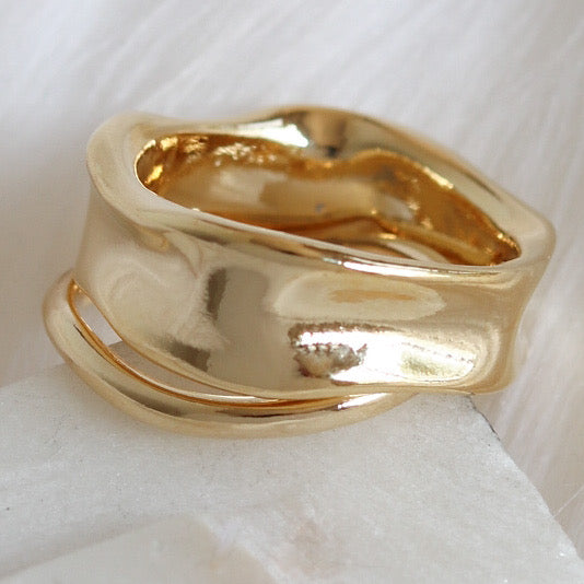 Gold Bella Ring Set
