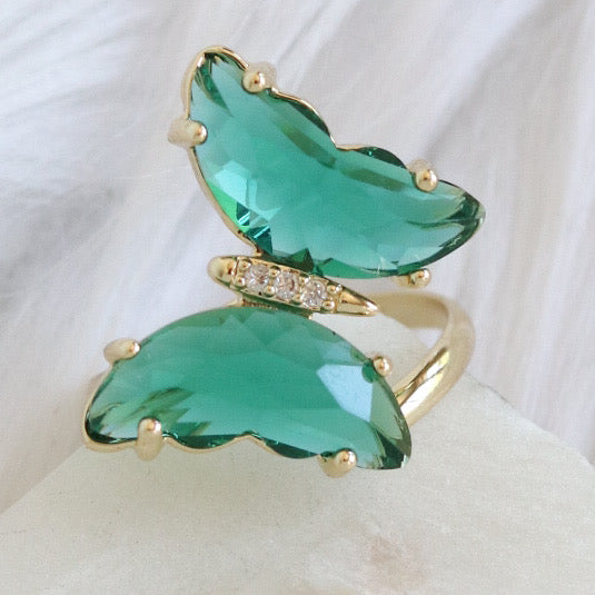 Anisha Butterfly Ring (Emerald)