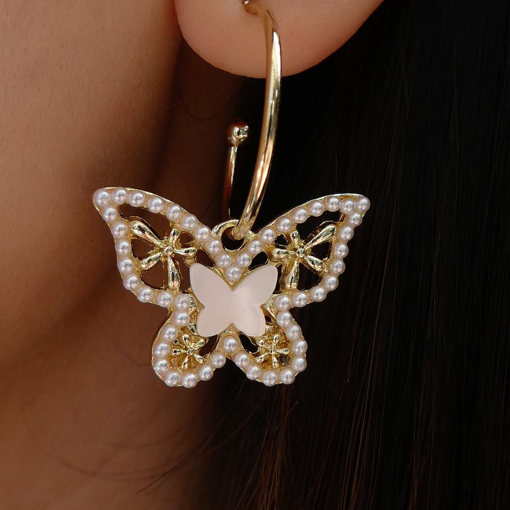 Anna Butterfly Hoops
