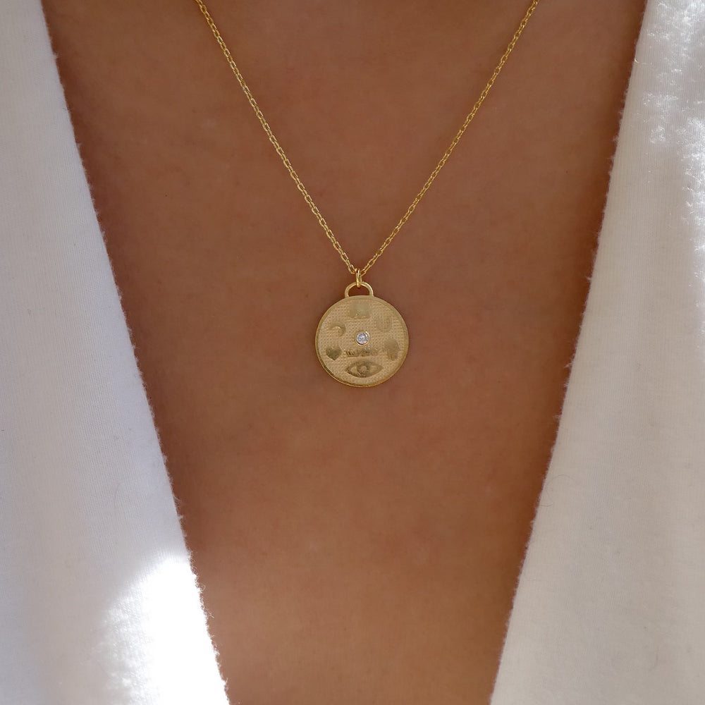 18K Symbol Coin Necklace