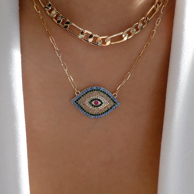 Luca Eye Necklace Set