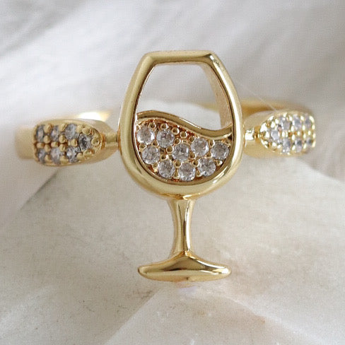 Crystal Wine Ring