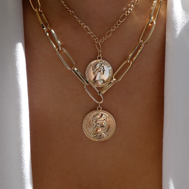 Sunset Coin Necklace Set