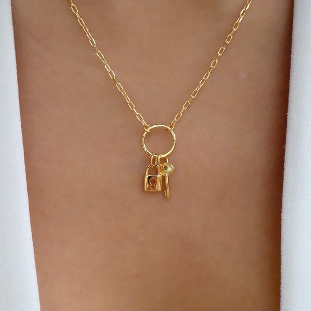 18K Lock & Key Necklace