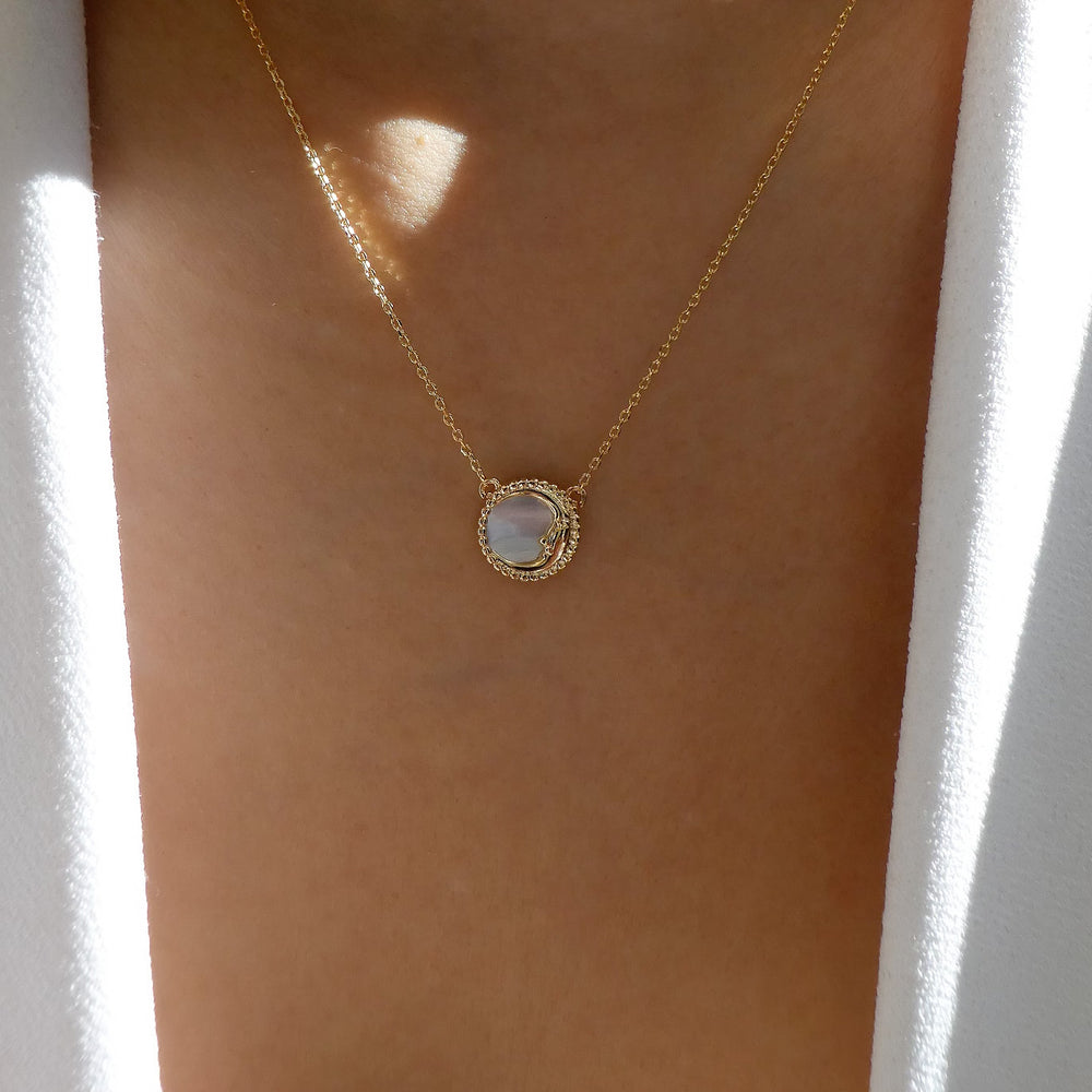 18K Moon Coin Necklace