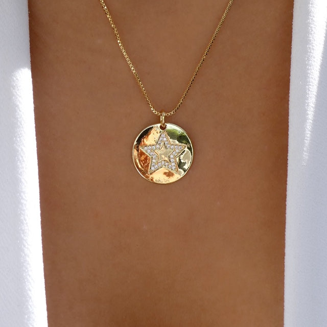 Nicolette Star Coin Necklace
