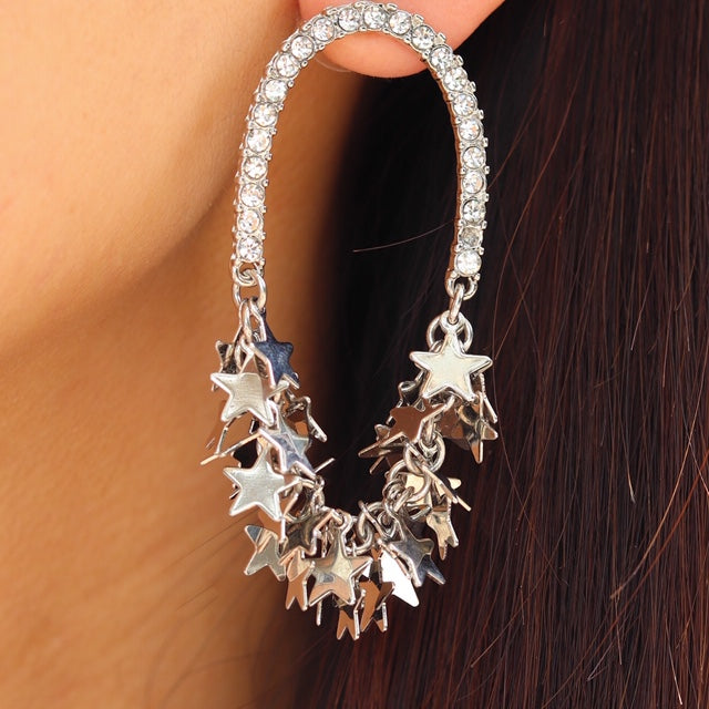 Glamour Star Earrings (Silver)