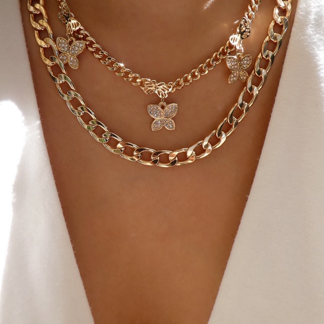 Bianca Butterfly Necklace Set