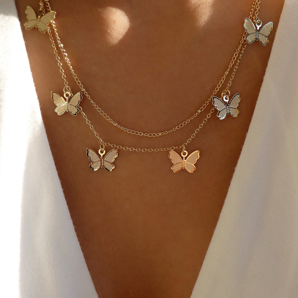 Waverly Butterfly Necklace Set