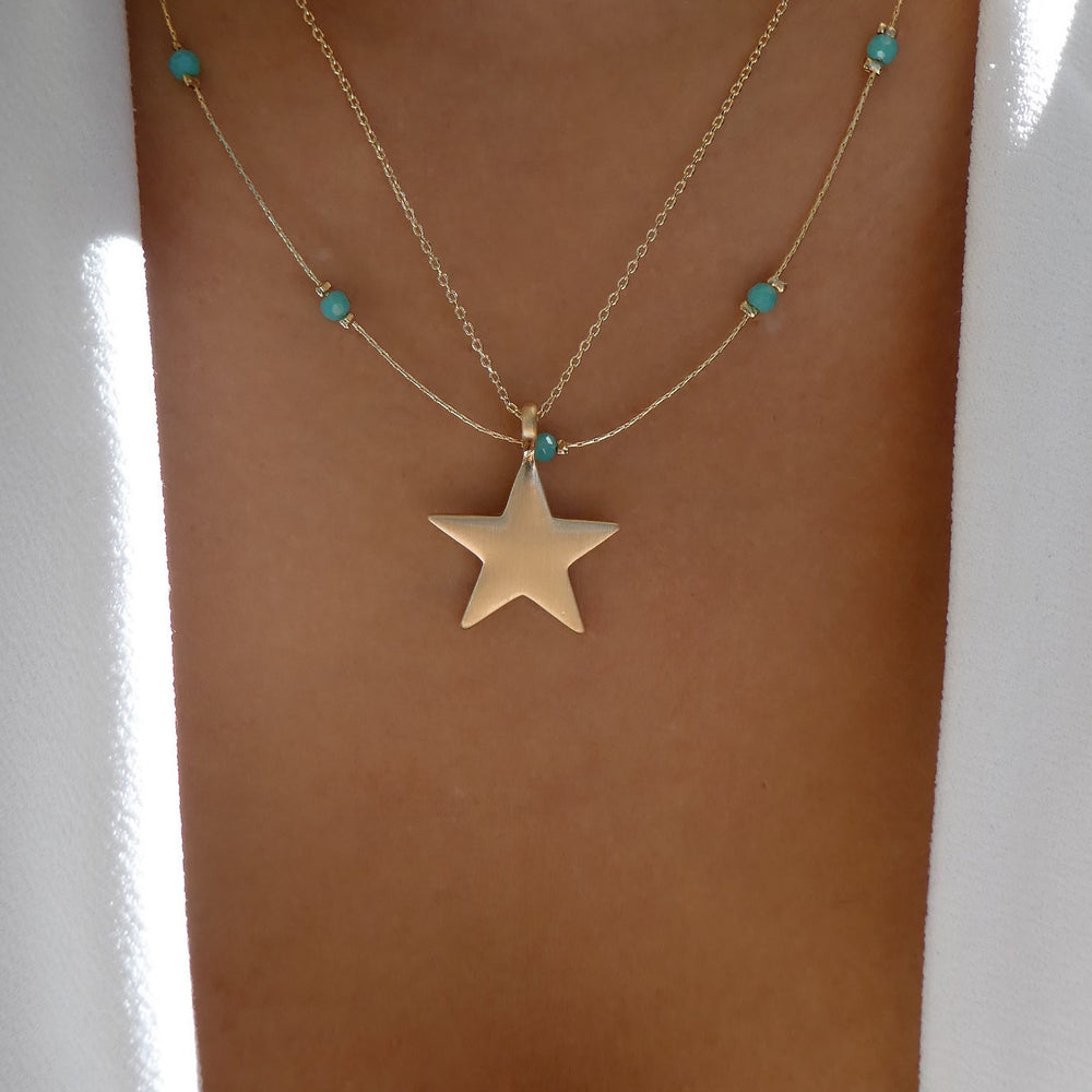 Kendall Star Necklace (Turquoise)