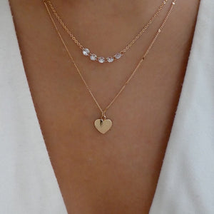 Matte Heart Necklace