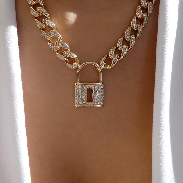 Lock & Chain Necklace