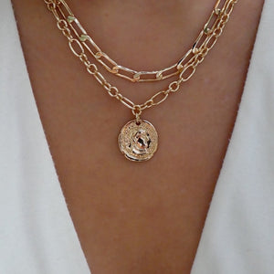 Callie Coin & Chain Chain Necklace