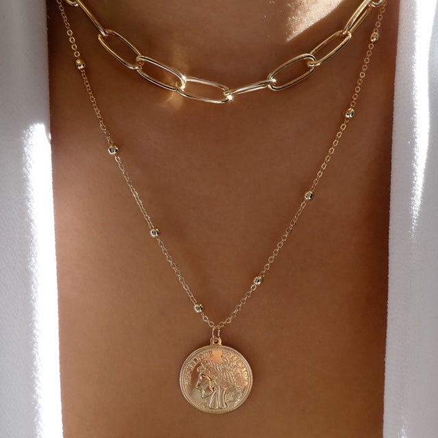 Rowan Coin Necklace