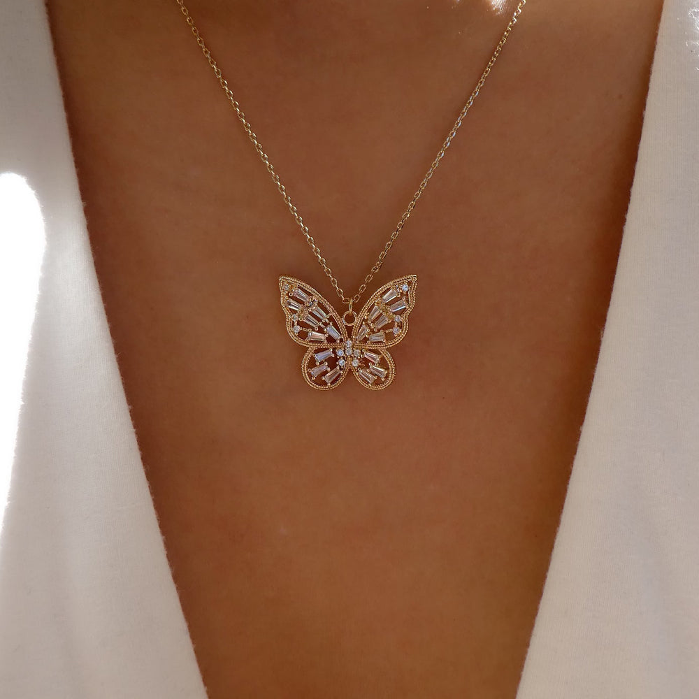 Misha Butterfly Necklace