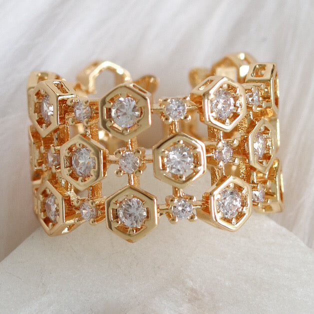 Crystal Comb Ring