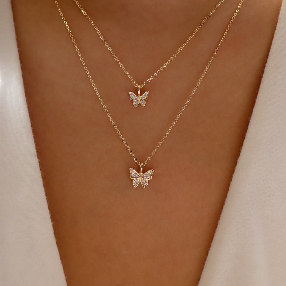 Hazel Butterfly Necklace