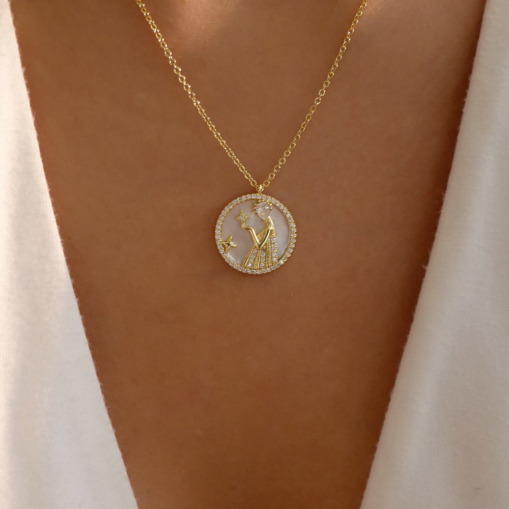 Ali Zodiac Necklace (Virgo)