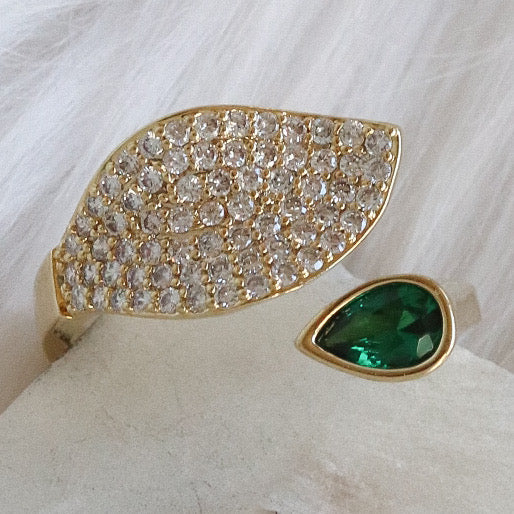 Emerald Charley Ring