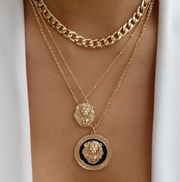 Almar Lion Coin Necklace